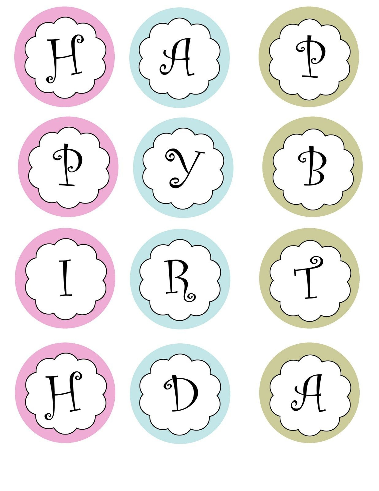Printable Banners Templates Free | Print Your Own Birthday Banner - Free Printable Happy Birthday Banner Templates