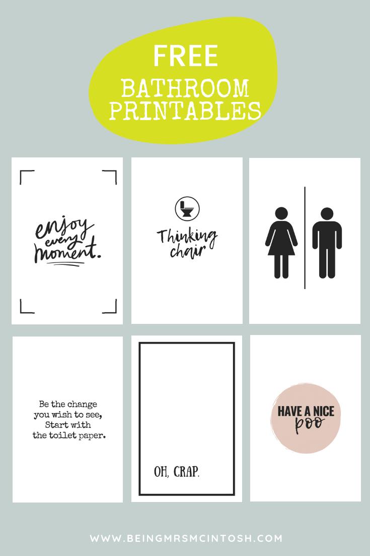 Printable Bathroom Signs   Creative Ideas   Bathroom Decor Signs - Free Printable Funny Signs