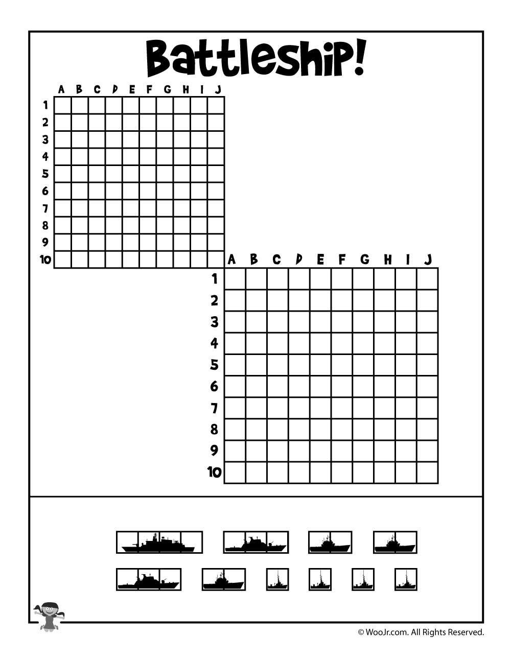 Printable Battleship Game | Speech - Fine Motor Skills | Battleship - Free Printable Battleship Game