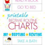 Printable Bedtime Routine Charts   Bitz & Giggles   Free Printable Bedtime Routine Chart