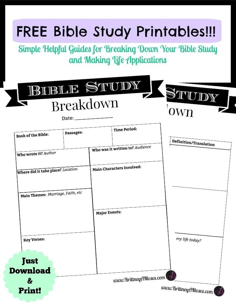 Printable Bible Study Guide | Jeff's | Bible Study Guide, Scripture - Free Printable Bible Study Guides