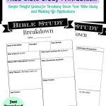 Printable Bible Study Guide | Jeff's | Bible Study Guide, Scripture   Free Printable Kjv Bible Study Lessons