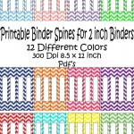 Printable Binder Spine Pack Size 2 Inch 12 Different Colors In   Free Editable Printable Binder Covers And Spines