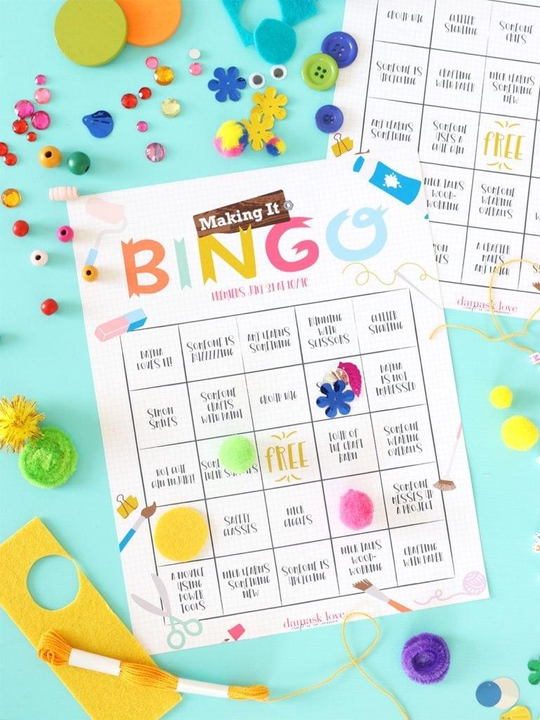 Printable Bingo For Nbc Making It | Damask Love - Free Printable Bingo Maker