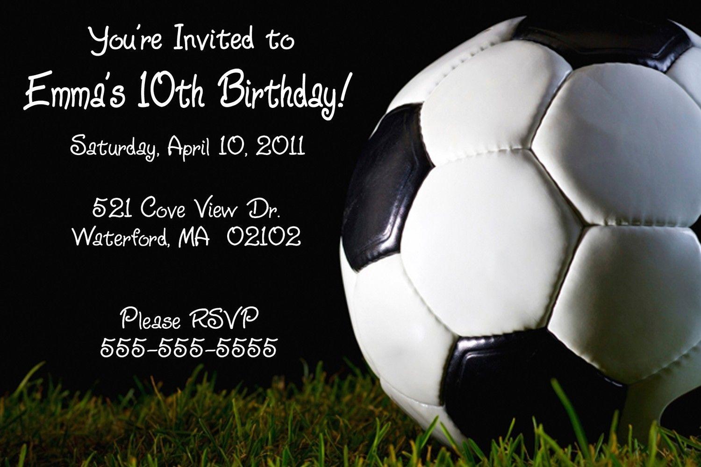 Printable Birthday Invitations Teenage Boys | Free Printable - Free Printable Soccer Birthday Invitations
