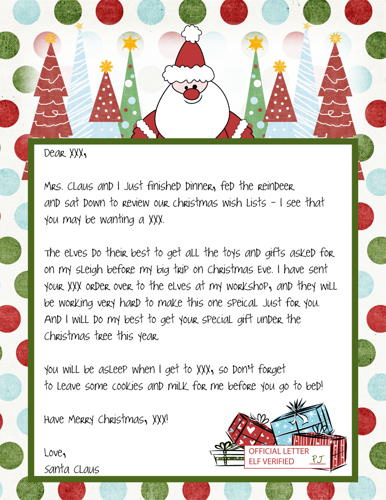 Printable Blank Santa Claus - Free Large Images … | Weddings | Chris… - Free Printable Letters From Santa Claus