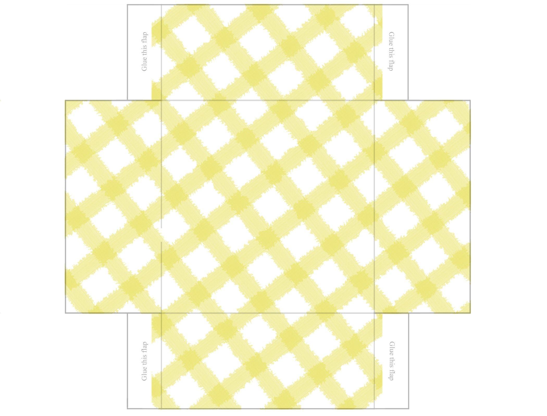 Printable Box Templates Free | Free Printable Templates: Gingham - Free Printable Box Patterns