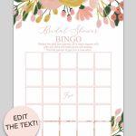 Printable Bridal Shower Bingo (Whimsical Botanical) | Free Party   Free Printable Bridal Shower Cards