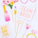 Printable Bridal Shower Photo Booth Props & Hen Party Bachelorette   Free Printable Photo Booth Props Bridal Shower
