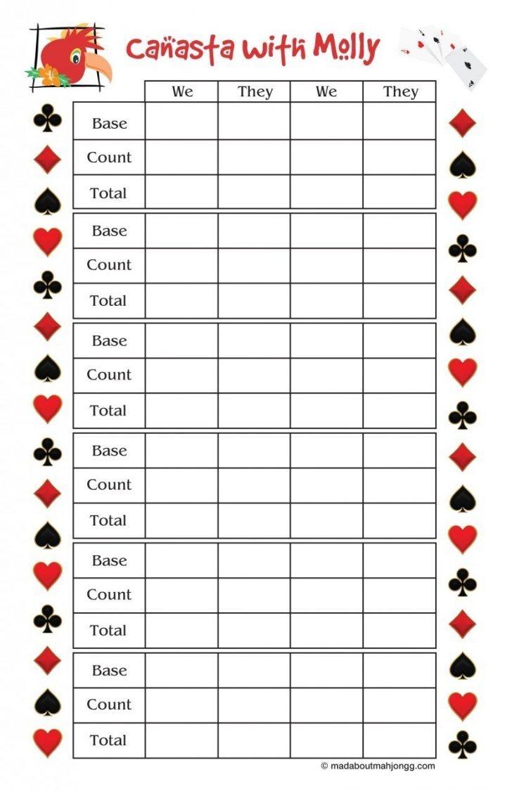 Printable Bridge Score Sheets - Resume Samples - Free Printable Pinochle Tallies