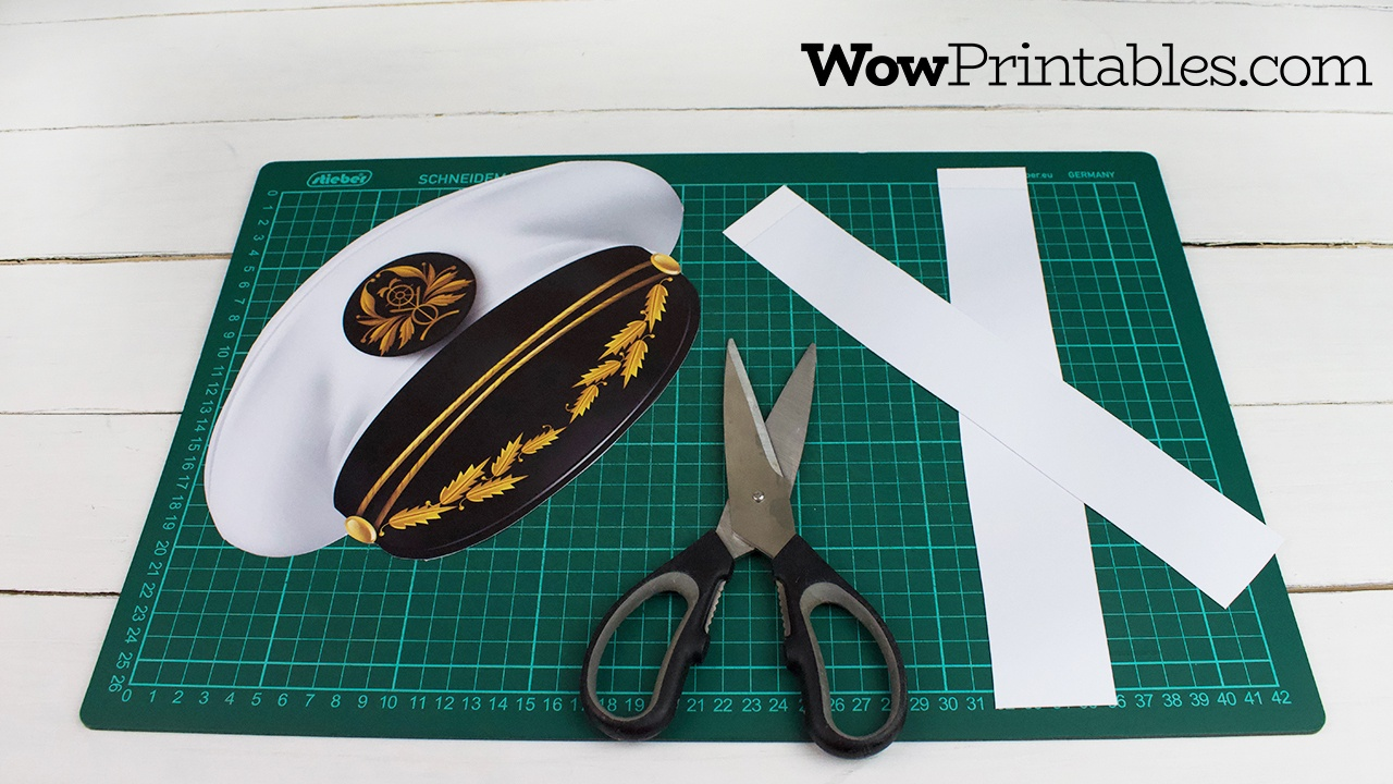 Printable Captain Hat Templatewowprintables - Download Now! - Free Printable Pilot Hat Template