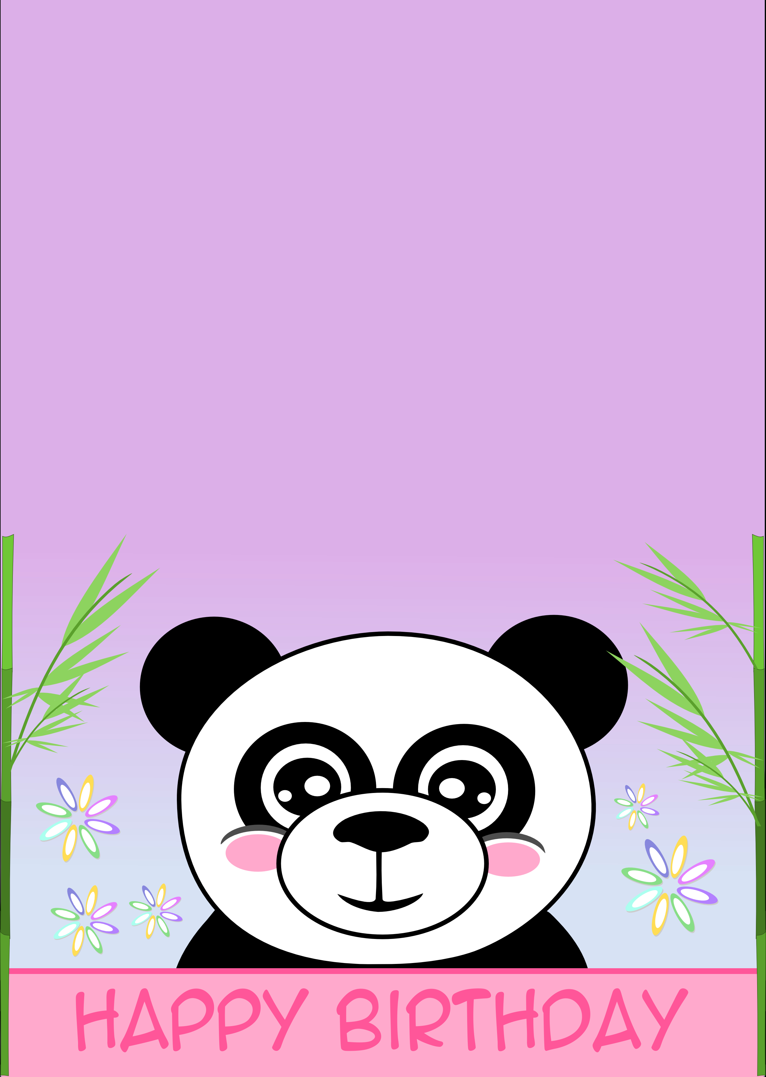 Printable Cards | Birthday | Free Printable Birthday Cards, Panda - Panda Bear Invitations Free Printable