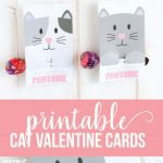 Printable Cat Valentine Day Cards | Valentine's Day Love | Diy   Free Printable Cat Valentine Cards