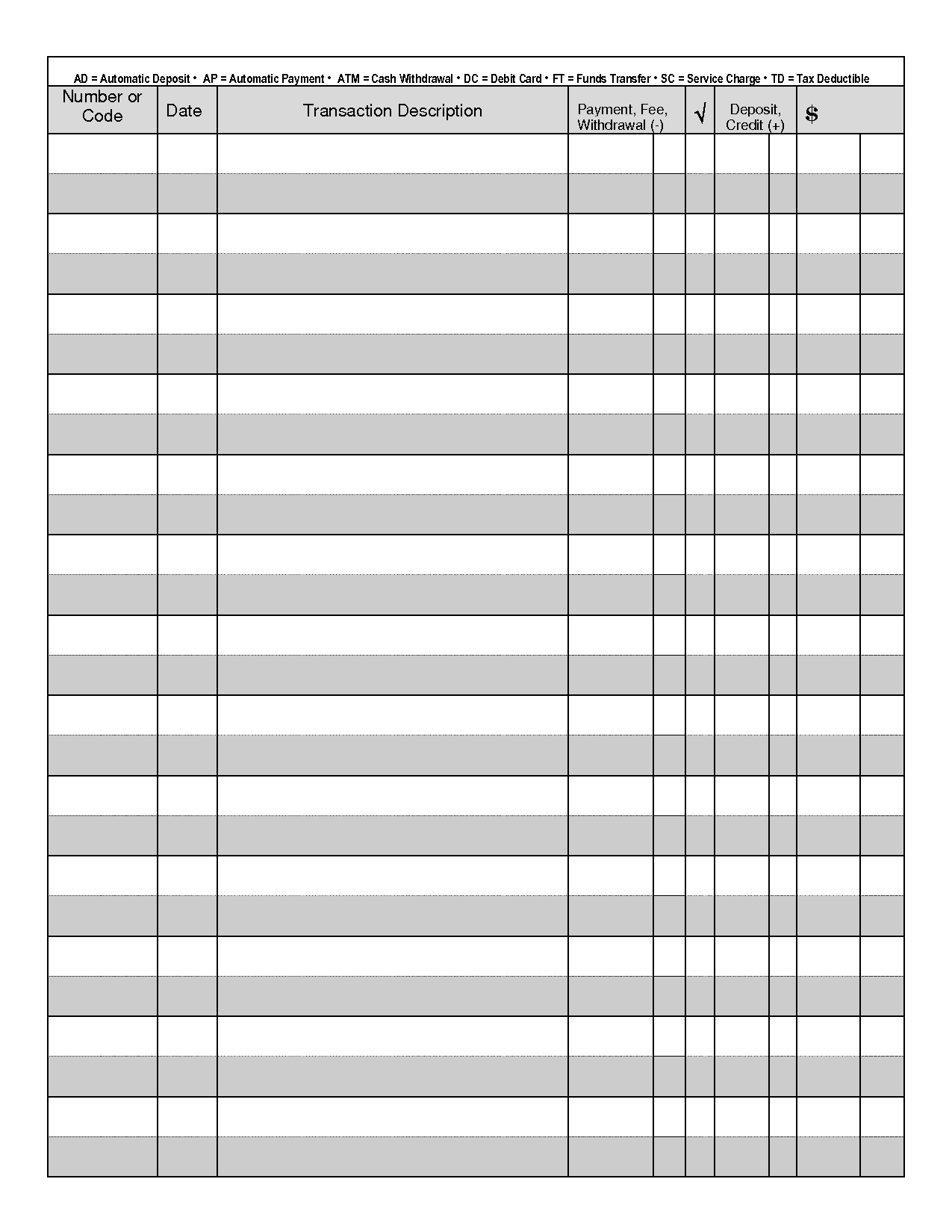 Printable Check Register - When You Are Searching For Coupons They - Free Printable Check Register Templates