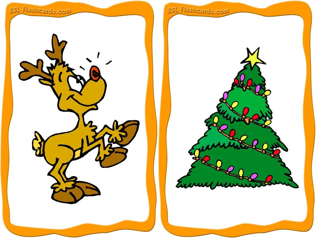 Printable Christmas Cards - Esl Flashcards - Free Printable Xmas Cards Download