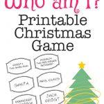 Printable Christmas Game: Who Am I? | Bloggers' Best Diy Ideas   Christian Christmas Games Free Printable