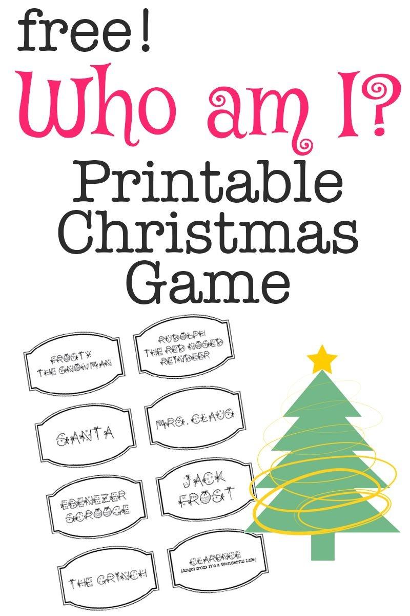 Printable Christmas Game: Who Am I?   Bloggers' Best Diy Ideas - Free Printable Christmas Family Games