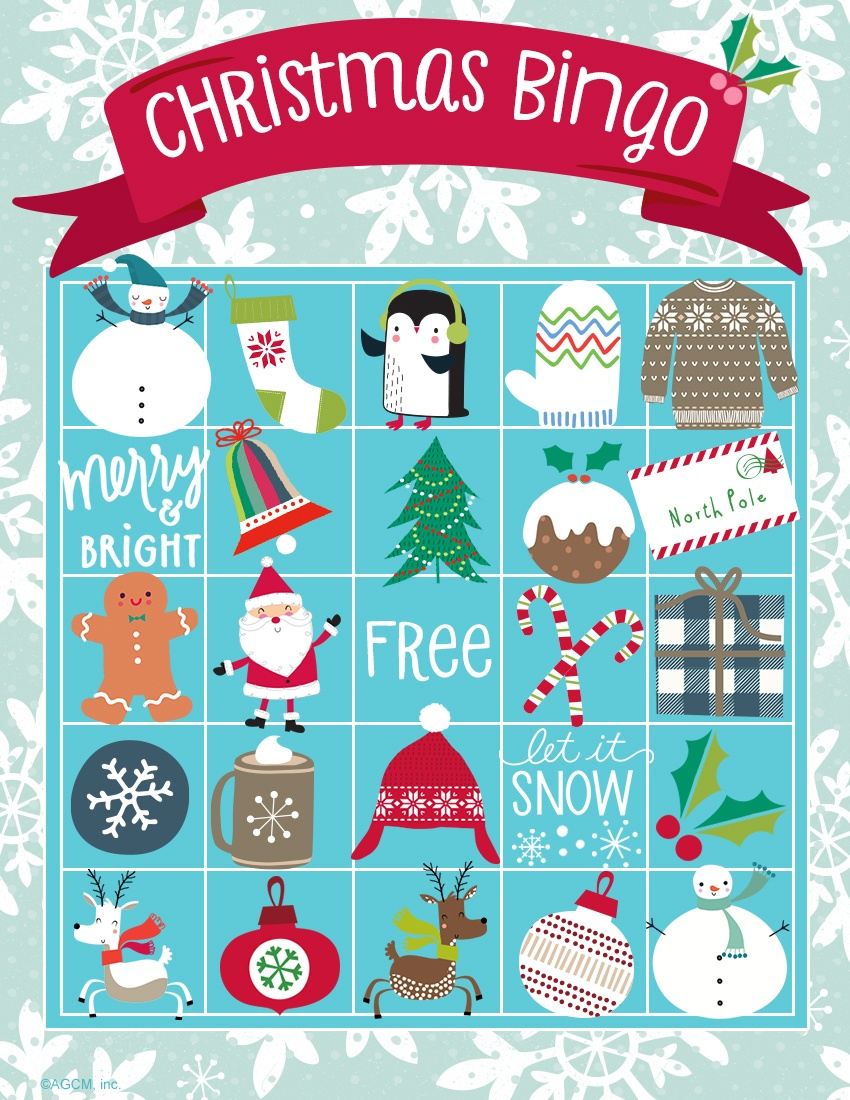 Printable Christmas Games | Blue Mountain - Free Printable Christmas Bingo