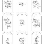 Printable Christmas Gift Tags Make Holiday Wrapping Simple   Christmas Gift Tags Free Printable Black And White