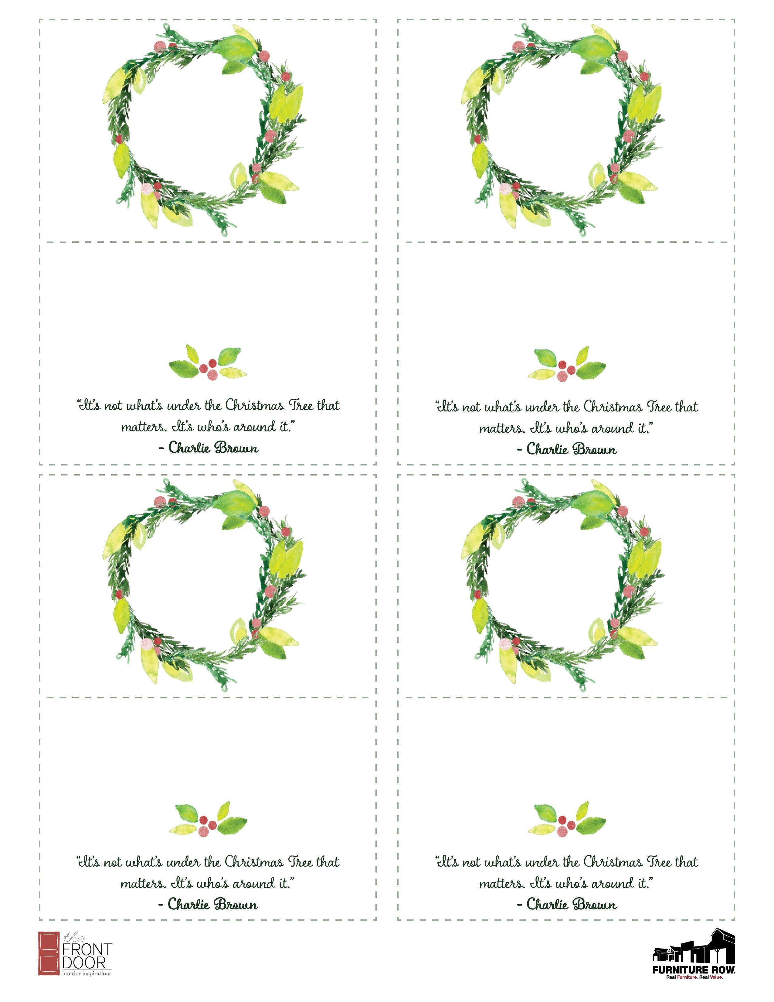 Printable Christmas Place Name Cards For The Table - The Front Door - Free Printable Christmas Place Name Tags