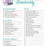 Printable Cleaning Checklists For Daily, Weekly And Monthly Cleaning   Free Printable Housework Checklist