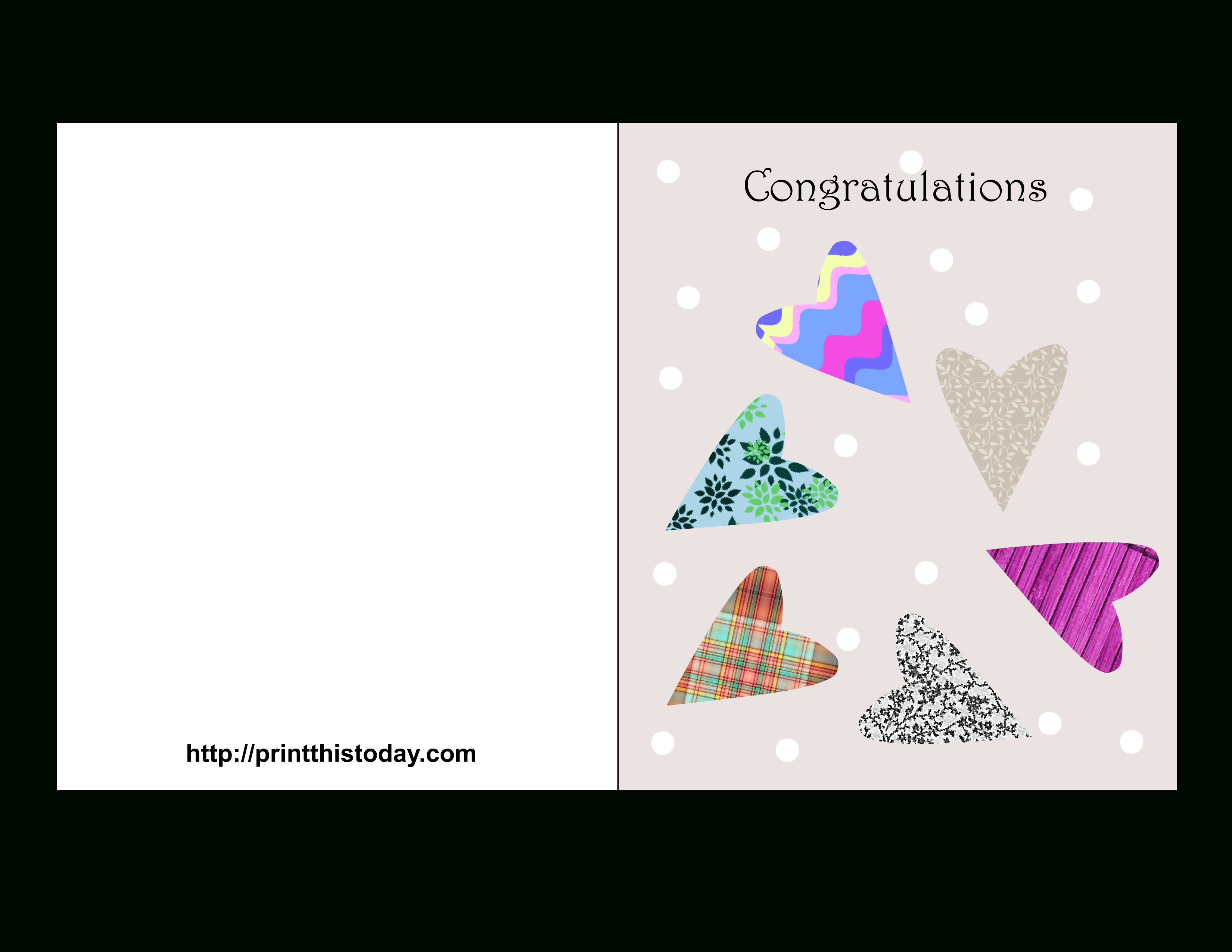 Printable Congratulations Card - Tutlin.psstech.co - Free Printable Congratulations Cards