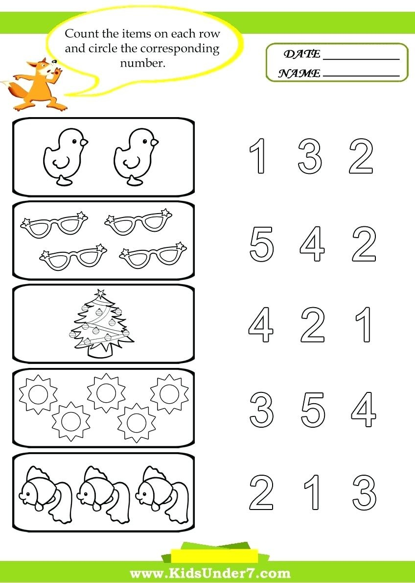 Printable Counting Worksheets Printable Counting Worksheets For - Free Printable Counting Worksheets 1 10