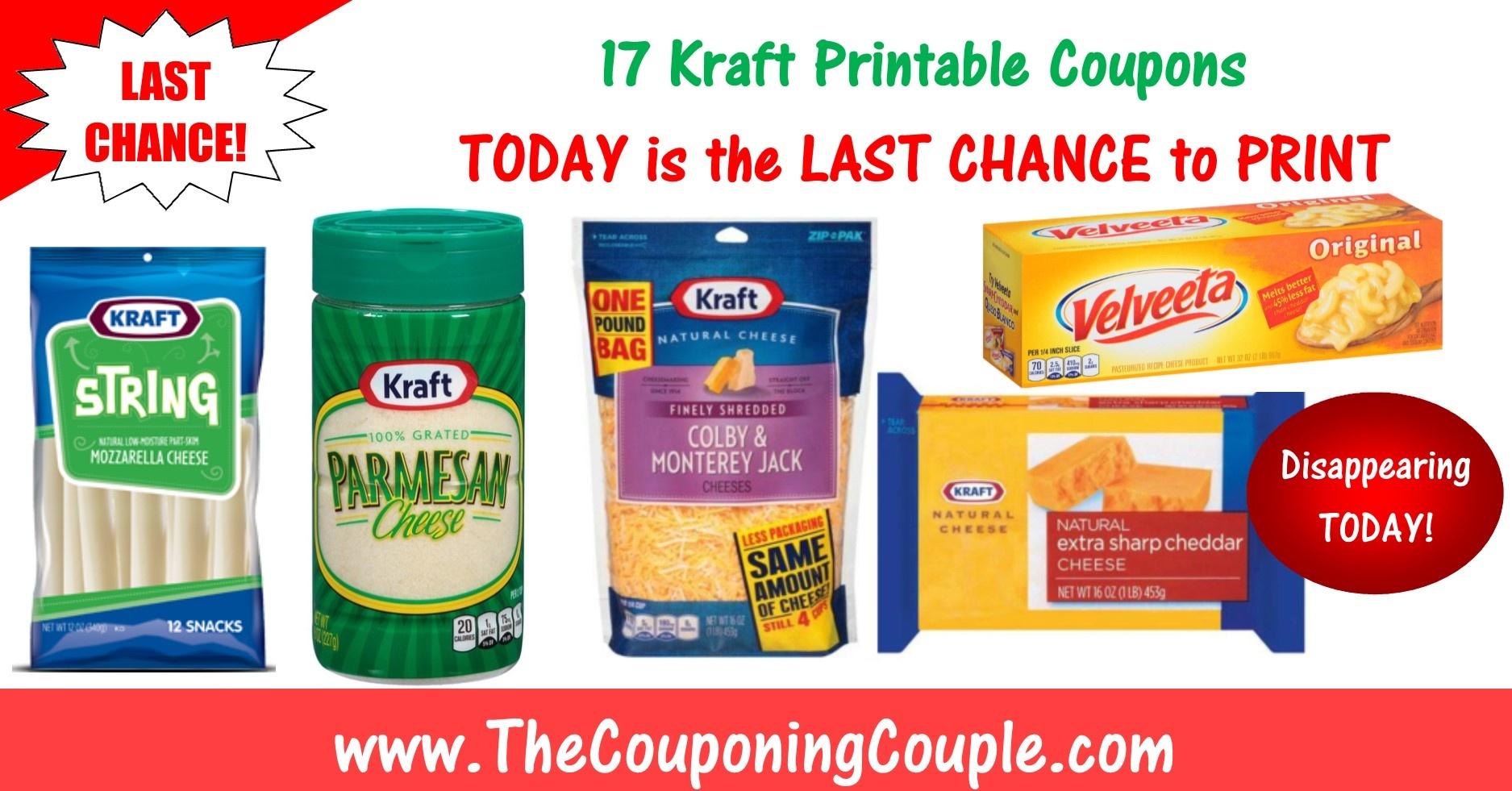Printable Coupons - Free Printable Kraft Food Coupons