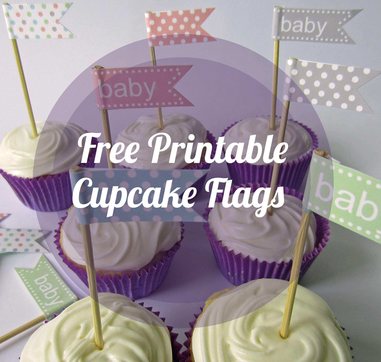 Printable Cupcake Flags | Free Printable Cupcake Flags | Baby - Cupcake Flags Printable Free