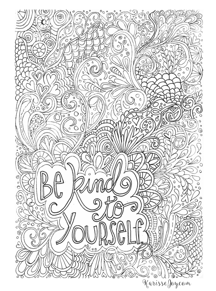 Printable Difficult Coloring Page | Favourites | Adult Coloring - Free Printable Quotes Coloring Pages