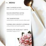 Printable Dinner Party Menu Template | Party Planning | Wedding Menu   Free Printable Birthday Menu Templates