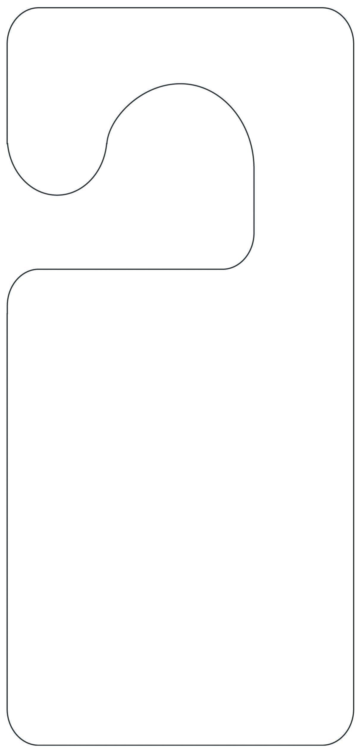 Printable Door Hanger Template | School Projects Year 5 | Dárky - Free Printable Door Hanger Template