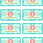 Printable Downloads For Mother Runners To Keep Their Sanity Over The   Free Printable Chore Bucks