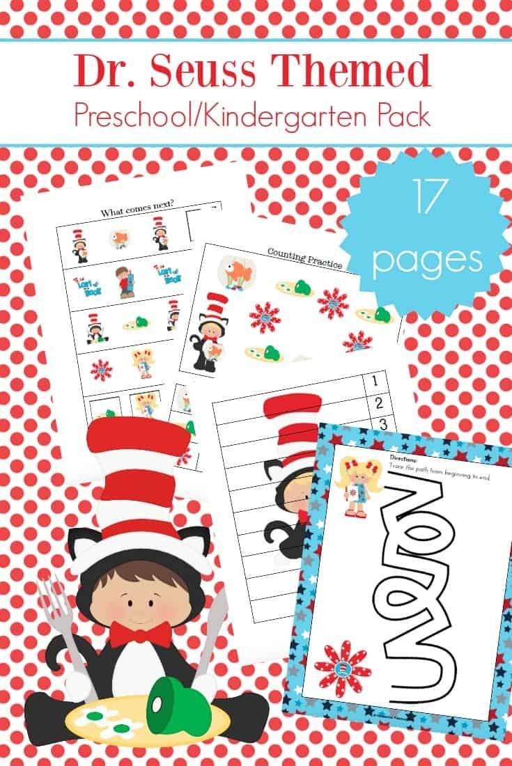 Printable Dr Seuss Activities For Kindergarten And Preschool - Dr Seuss Free Printables