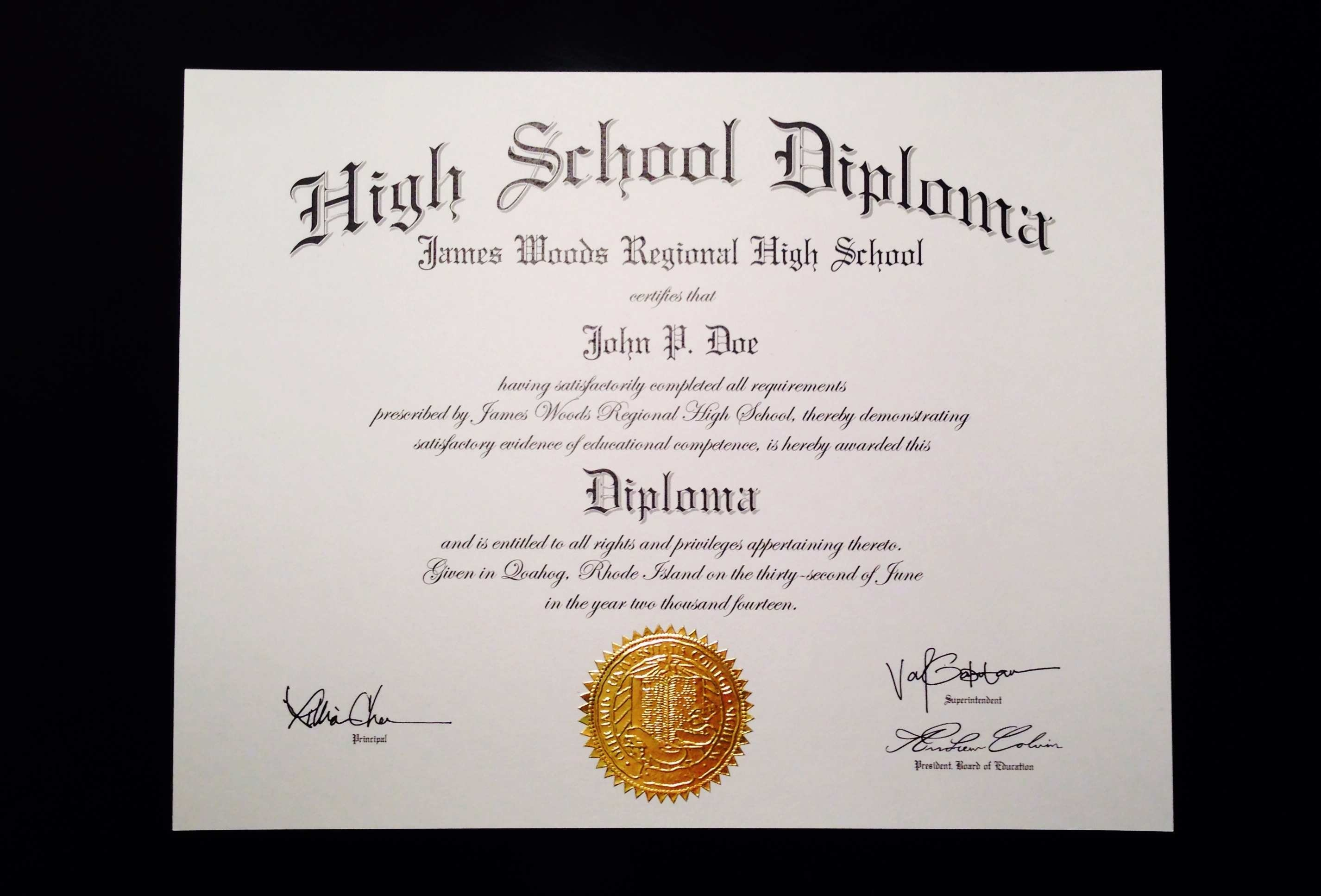 Printable Fake Ged Certificate For Free Excellent 6 Best Of High - Printable Fake Ged Certificate For Free