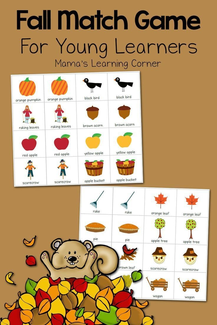 Printable Fall Match Game | Fall Crafts And Activities For Kids - Free October Preschool Printables