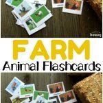 Printable Farm Animal Flashcards   Look! We're Learning!   Free Printable Farm Animal Flash Cards