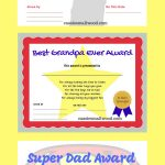 Printable Father's Day Certificates Of Appreciation  Gifts For Dad   Grandparents Certificate Free Printable