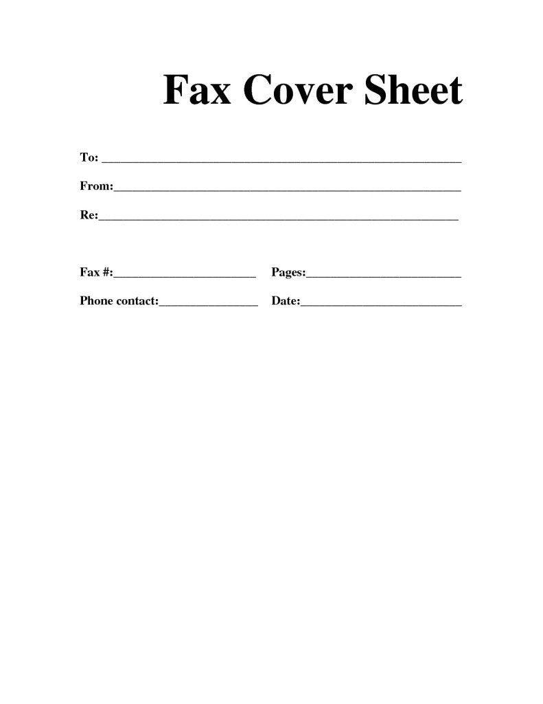 Printable Fax Cover Sheet Template Futuristic Vision Professional - Free Printable Fax Cover Sheet