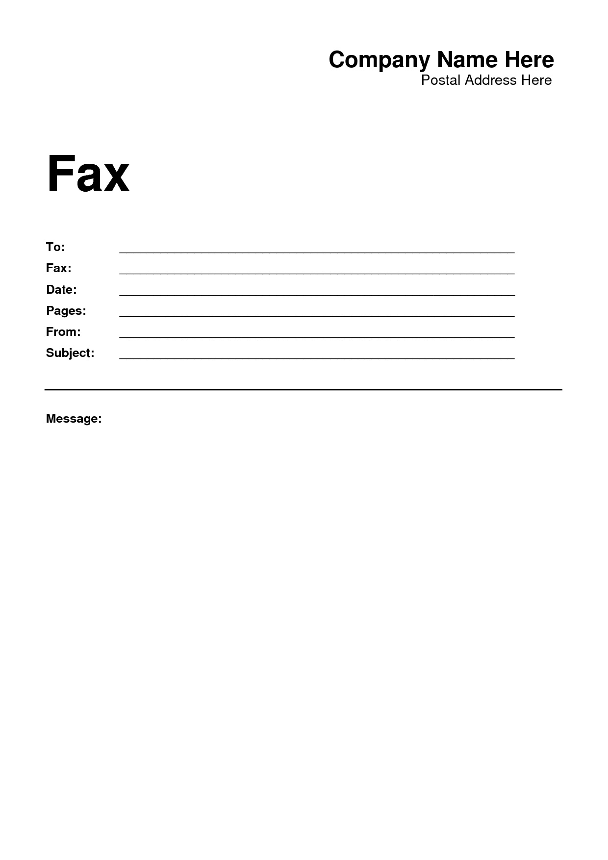 Printable Fax Cover Sheet Template - Radiodignidad - Free Printable Cover Letter For Fax