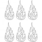 Printable Flame Stickers, Flame Templates, Flame Shapes   Free Printable Flame Template