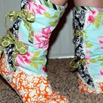 Printable Fleece Slipper Pattern | Fleece Moccasin Slipper Boots   Free Printable Fleece Sock Pattern
