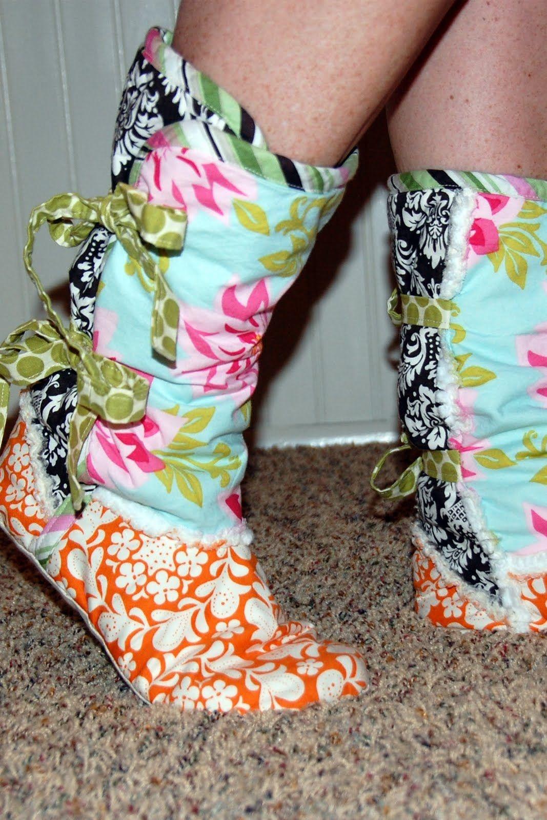 Printable Fleece Slipper Pattern | Fleece Moccasin Slipper Boots - Free Printable Fleece Sock Pattern