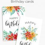 Printable Floral Birthday – Cards, Tags & Gift Box | Cards | Free   Free Printable Personalized Birthday Cards