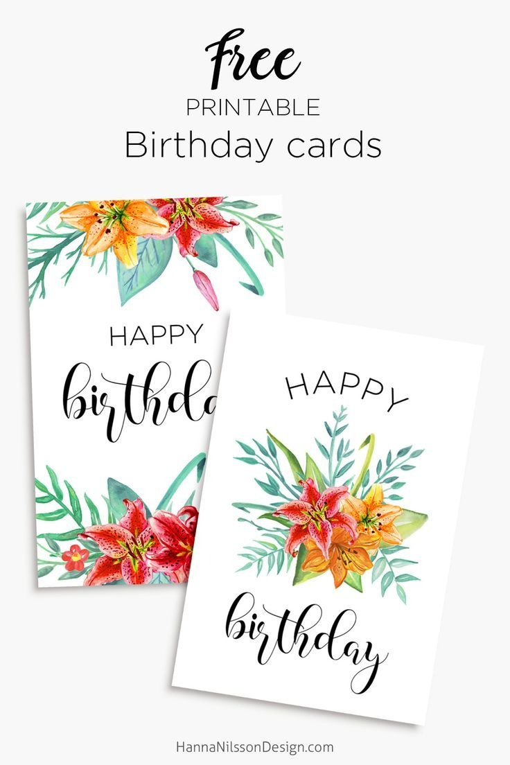 Printable Floral Birthday – Cards, Tags & Gift Box   Cards   Free - Free Printable Personalized Birthday Cards