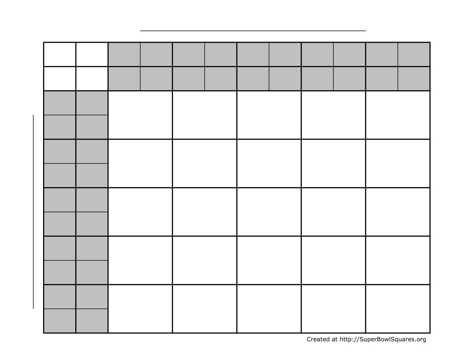 Printable Football Squares Sheets - Football Squares Printable Free