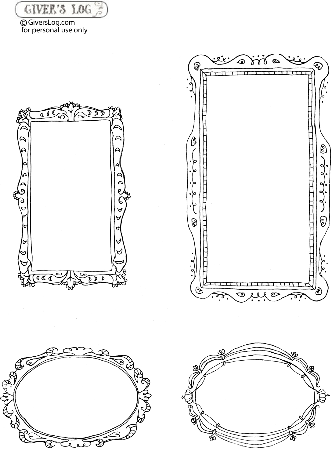 Printable Frames} | Craft Herpes: Printables And Typography | Free - Free Printable Photo Frames