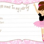 Printable Free Diy Ballerina Party Invitations | Party Printables In   Free Printable Ballerina Birthday Invitations
