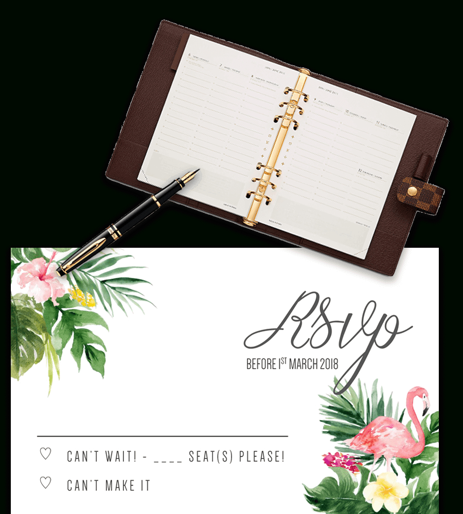 Printable Free Wedding Rsvp Template & Cards Microsoft Word - Free Printable Rsvp Cards