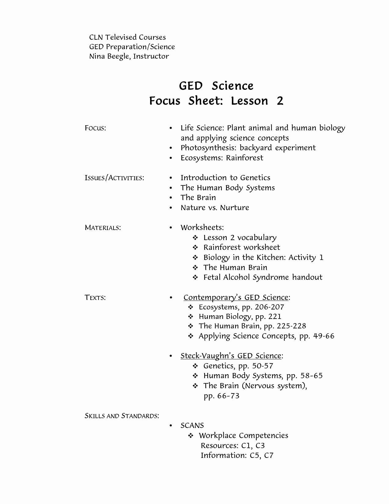 Printable Ged Practice Worksheets Pdf - Happy Living - Free - Free Printable Ged Worksheets